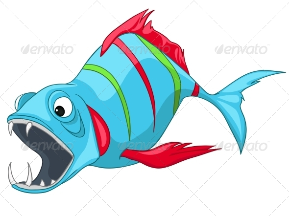 GraphicRiver Cartoon Character Fish 4971113