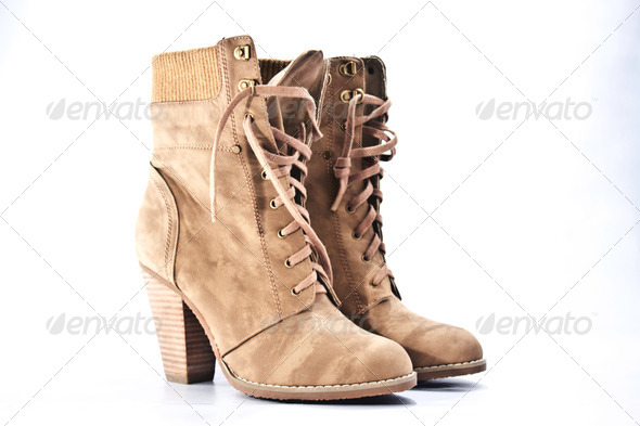 Suede-boots - Stock Photo - Images