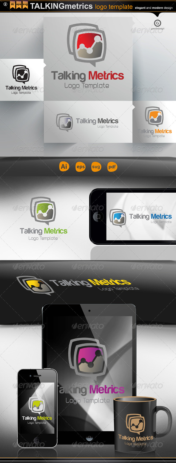 Talking Metrics - Logo Templates