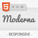 Moderna Responsive HTML5 Template - ThemeForest Item for Sale