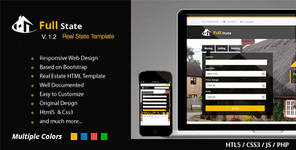 Full State - Responsive and Bootstrap Real State - Business Corporate