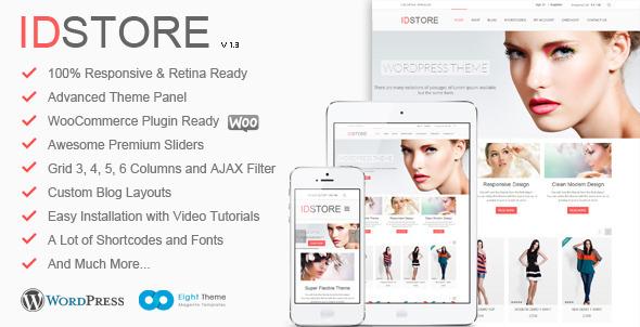 IDStore – Theme Multiusos Responsive de Comercio Electrónico para WordPress