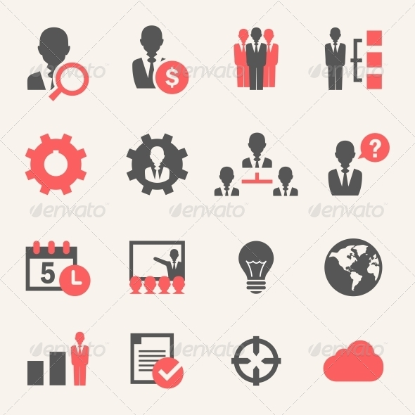 GraphicRiver Internet Business Icon set 4973358