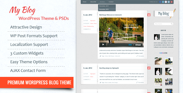 My Blog WordPress Theme - Personal Blog / Magazine