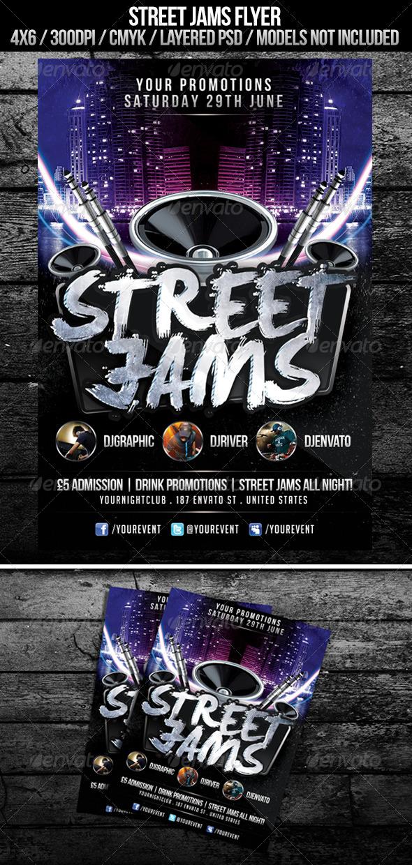 GraphicRiver Street Jams Flyer 4973536