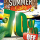 3D Summer Sales Flyer Template  - GraphicRiver Item for Sale