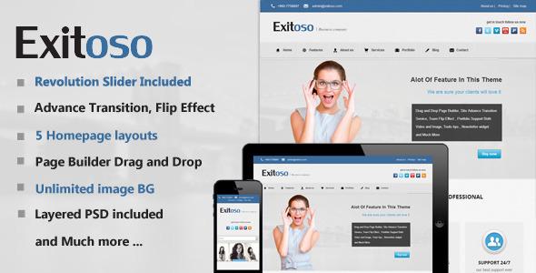 ThemeForest Exitoso Multi-Purpose WordPress Theme 4960780
