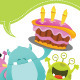 Birthday Monsters Card - GraphicRiver Item for Sale