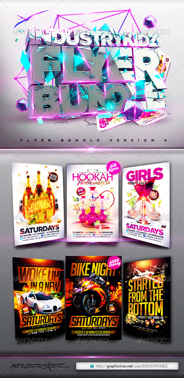 Flyer Bundle V4 - Clubs & Parties Events
