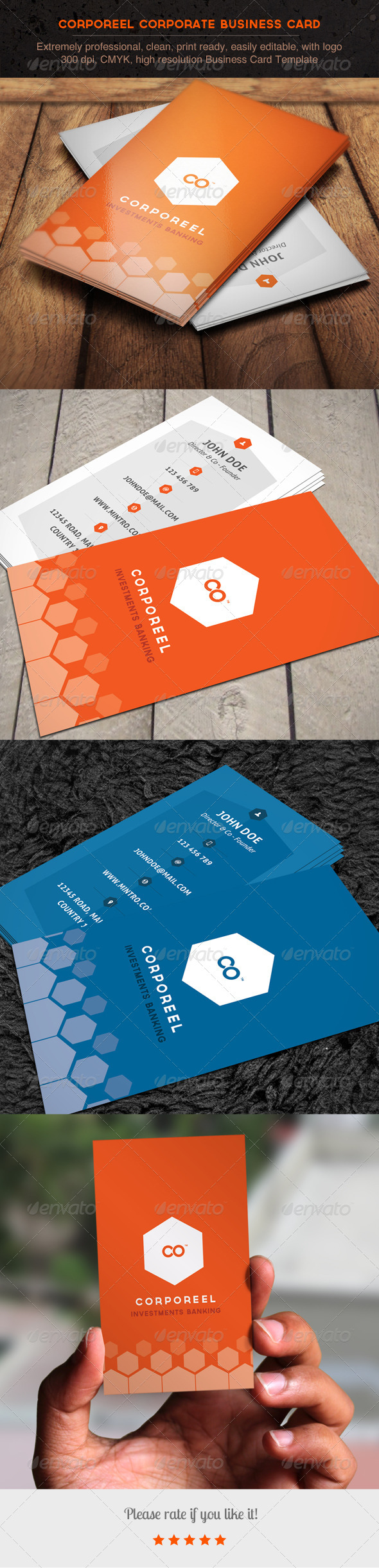 Corporeel Corporate Business Card - Corporate Business Cards