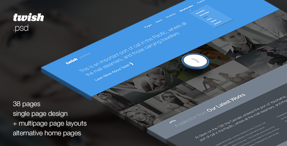 Twish - Single + Multipage PSD Template