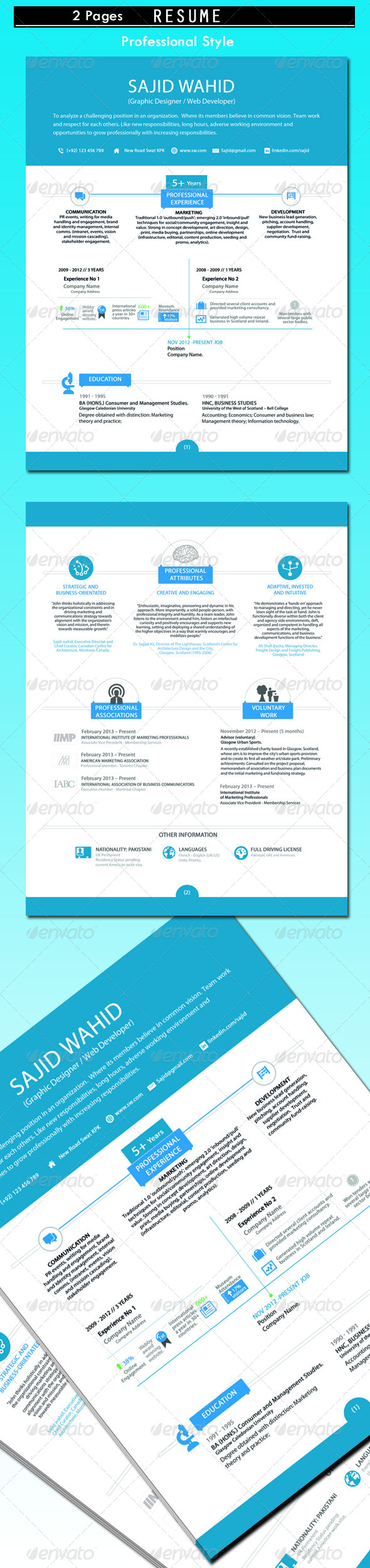 GraphicRiver Clean and Stylish Resume 4977617