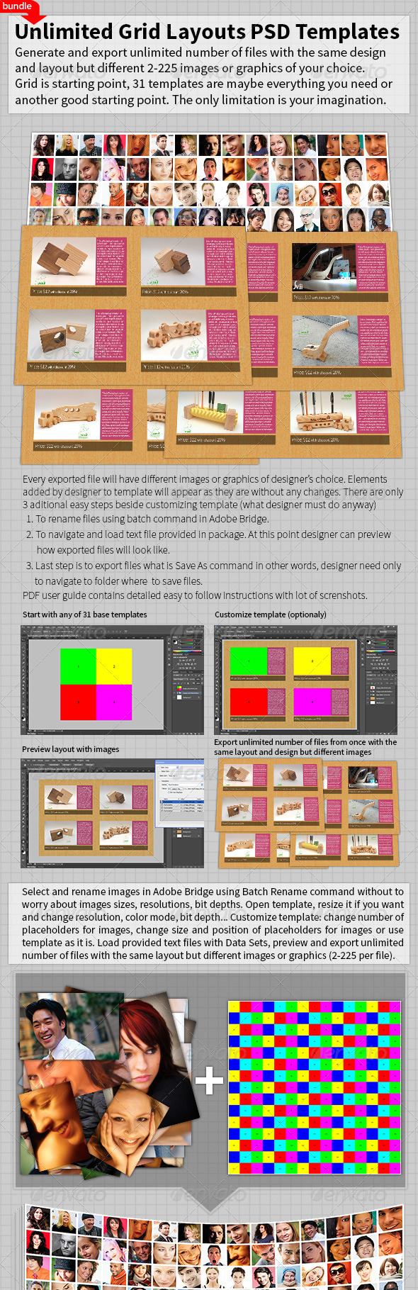 GraphicRiver Unlimited Grid Layouts PSD Templates Bundle 4977783
