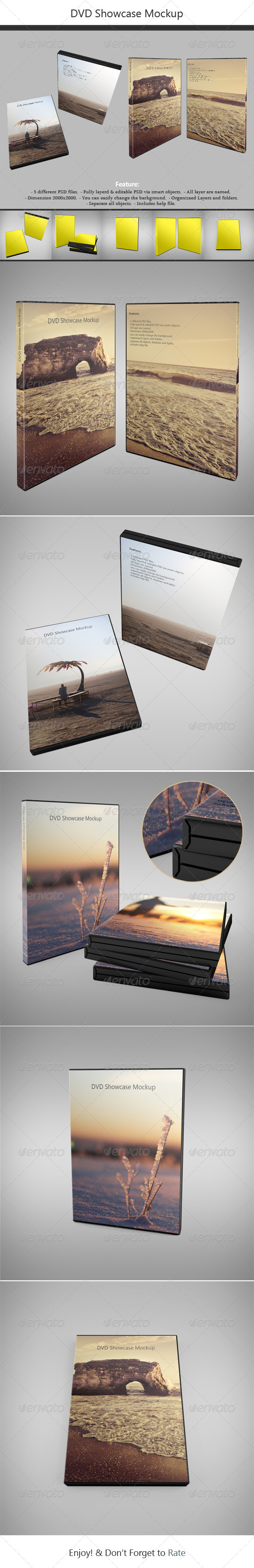 DVD Showcase Mock-up - Discs Packaging