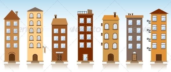 GraphicRiver Seven Vector Buildings 4978106