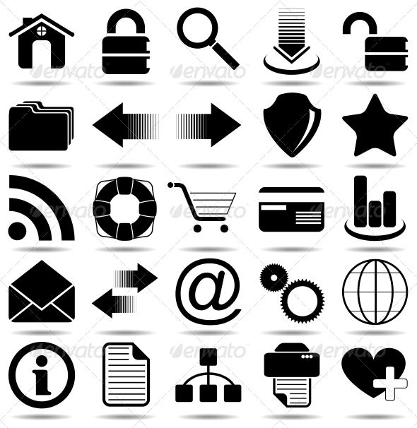 GraphicRiver Black Web Icons 4978162