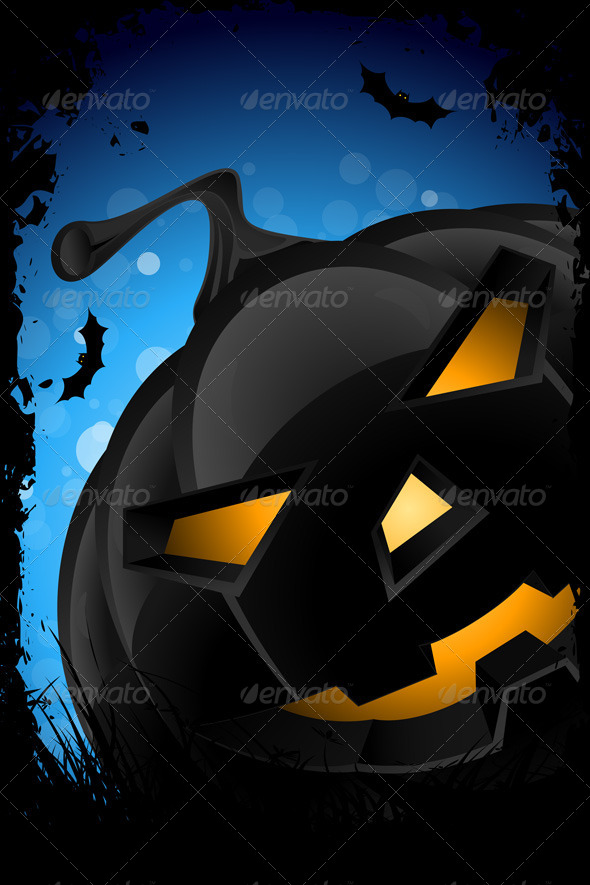 GraphicRiver Grunge Halloween Party Background 4978292
