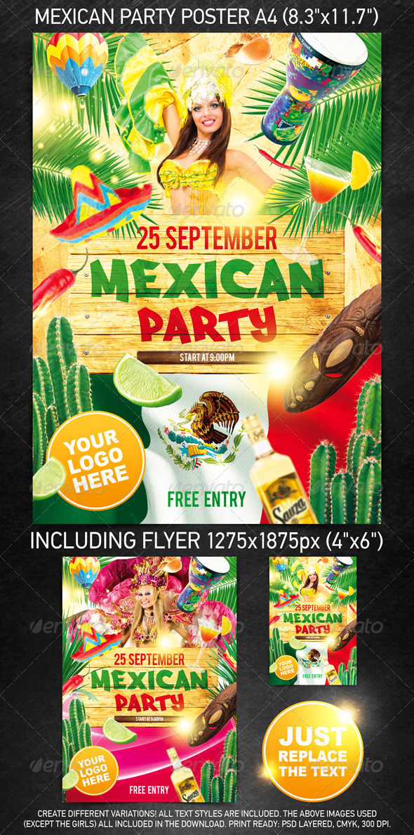 GraphicRiver Mexican Party Template 513354