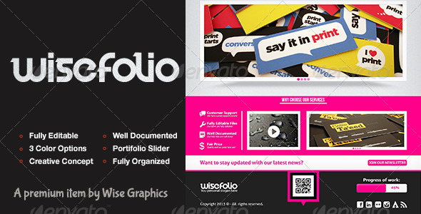 GraphicRiver WiseFolio Creative Portifolio Coming Soon Page 4978690