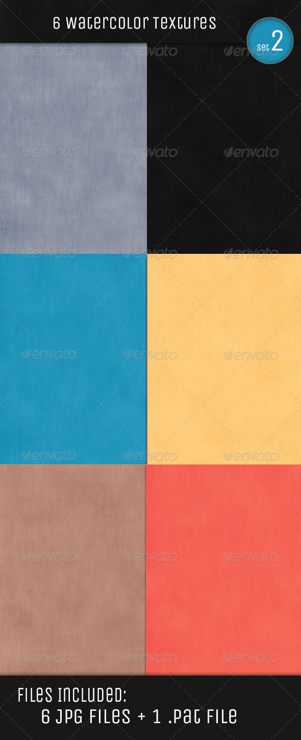 GraphicRiver Water Color Textures V2 4978911