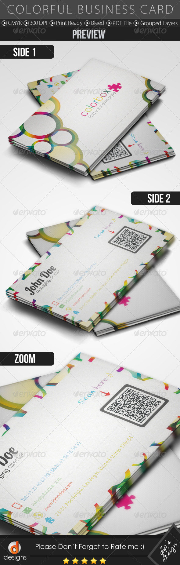 GraphicRiver Colorful Business Card 4979356