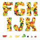 Colorful Letters from Fruits. Vector Clip Art - GraphicRiver Item for Sale