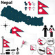 Map of Nepal - GraphicRiver Item for Sale
