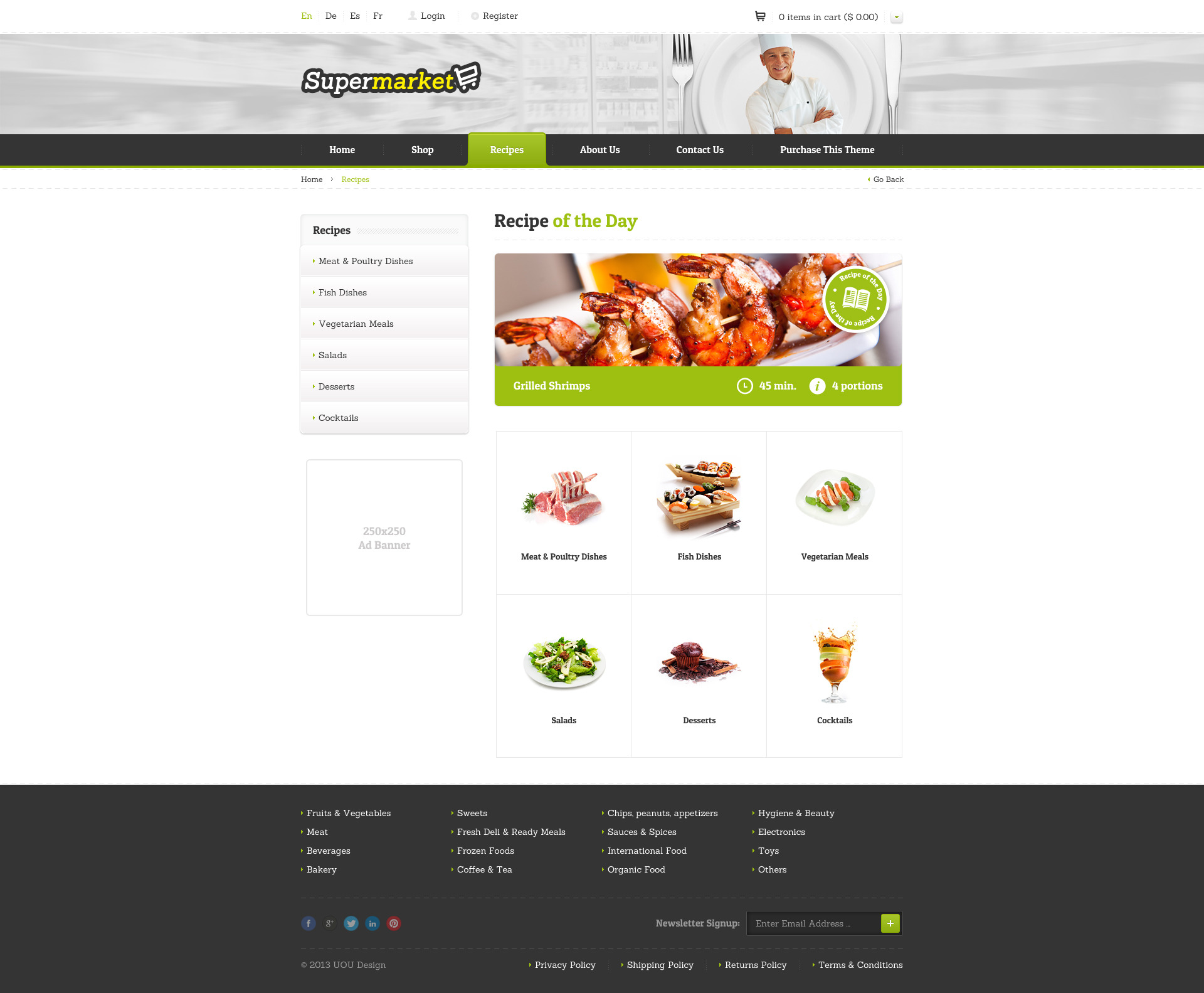 SUPERMARKET - e-Shop PSD Template