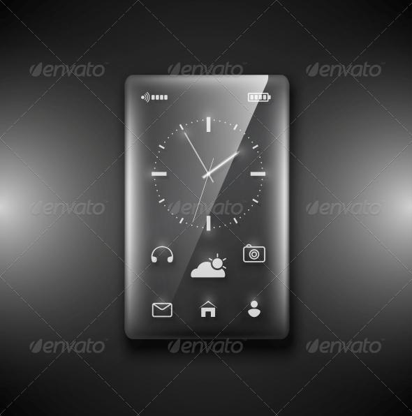 GraphicRiver Transparent Glass Phone 4981350