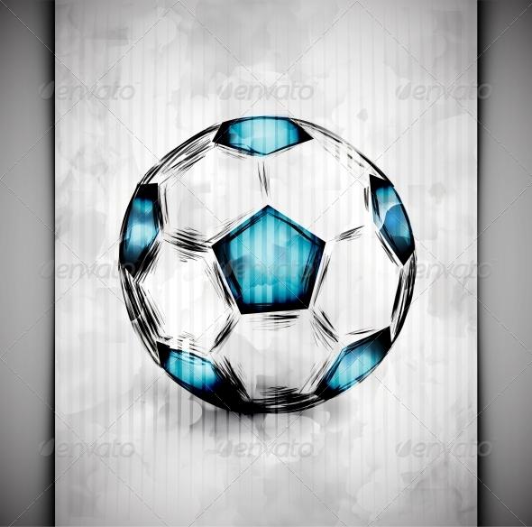 GraphicRiver Soccer Ball Watercolor 4981363