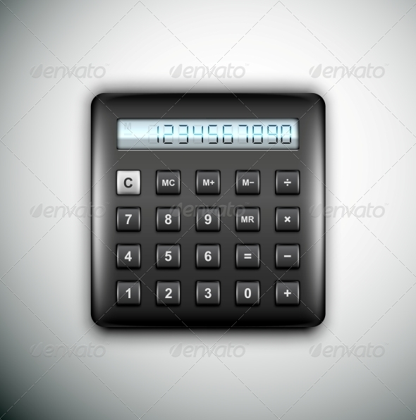 GraphicRiver Black Calculator 4981394