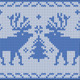 North knitted Pattern with Deers - GraphicRiver Item for Sale