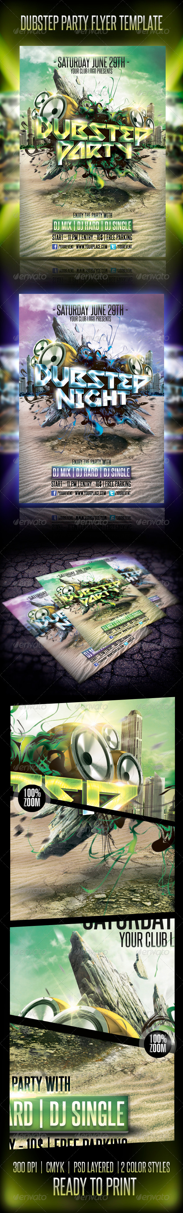GraphicRiver Dubstep Party Flyer Template 4981864
