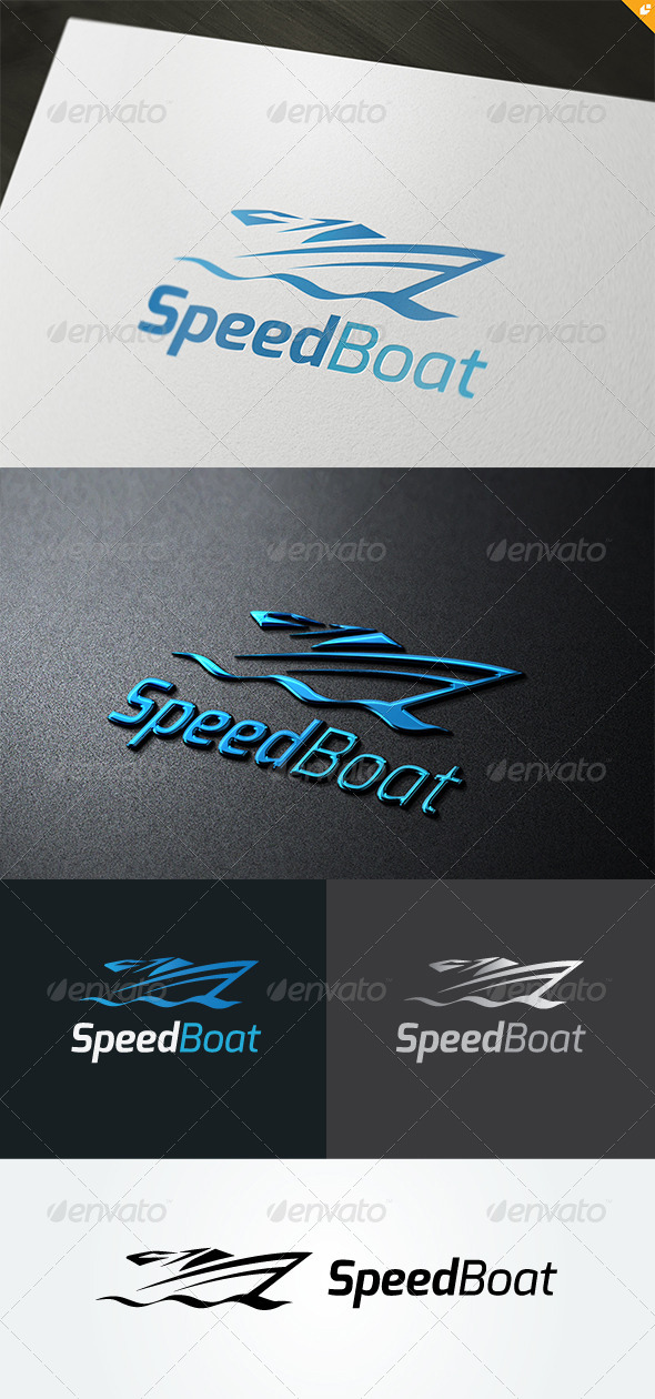 GraphicRiver Speed Boat Logo 4983229