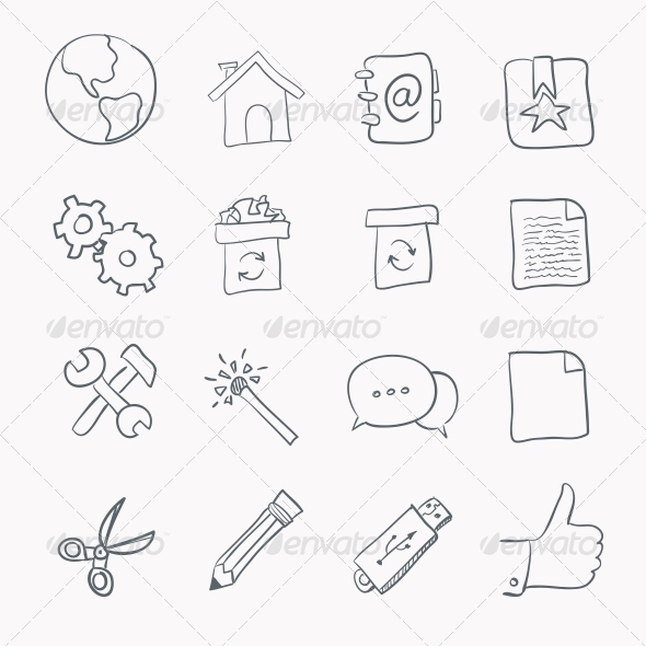 GraphicRiver Sketch Icon Set 4983294