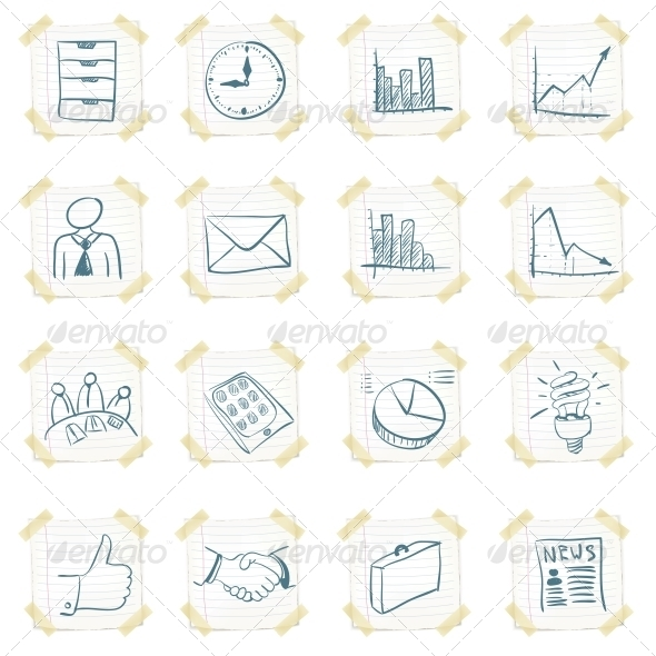 GraphicRiver Sticker Icon Set 4983326