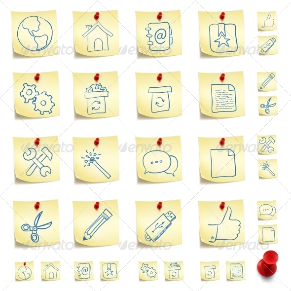 GraphicRiver Sticker Icon Set 4983386