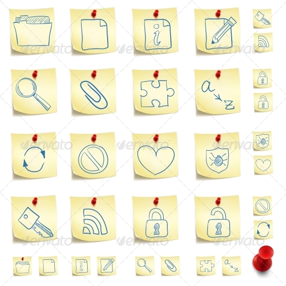 GraphicRiver Sticker Icon Set 4983387
