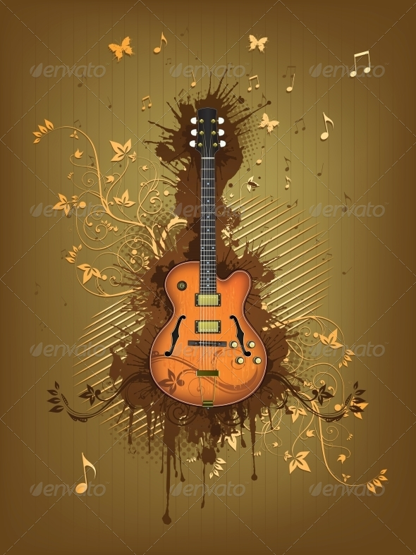 GraphicRiver Retro Electric Guitar 4983565