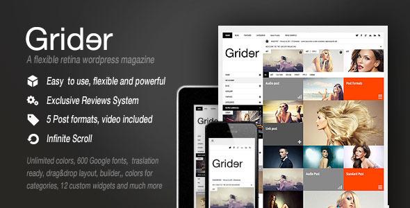 Grider Retina Responsive BlogMagazine