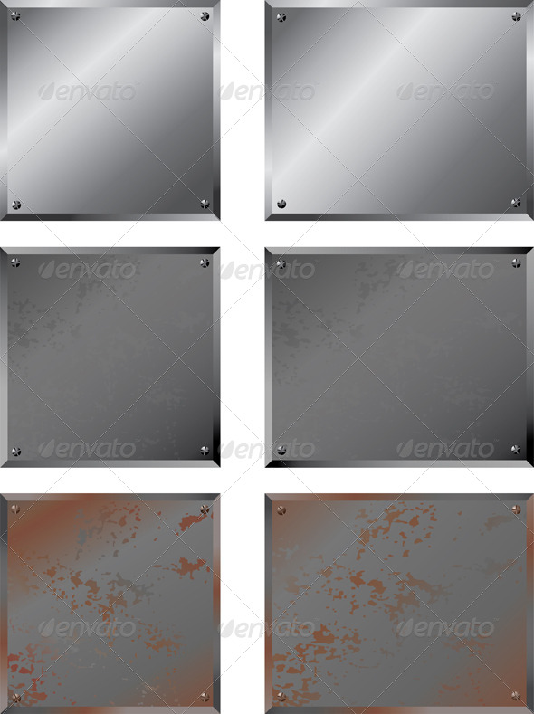 GraphicRiver Shiny & Rusty Metal Plates 4984209