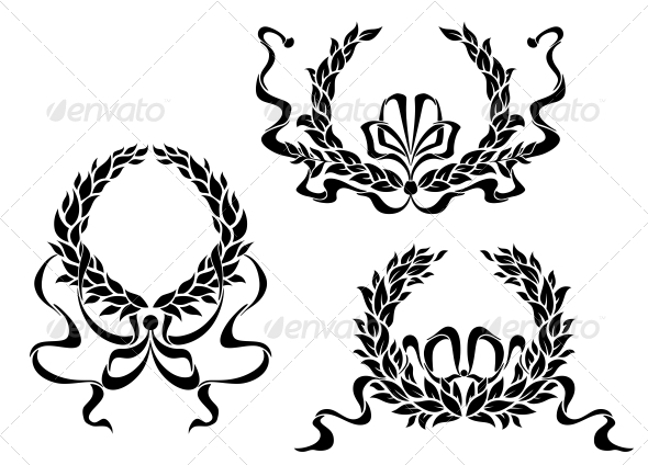 GraphicRiver Coat of Arms with Laurel Leaves and Ribbons 4986105