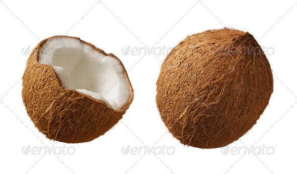Coconuts isolated on white - Stock Photo - Images