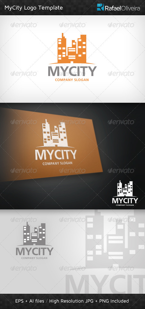 Graphic River MyCity Logo Template Logo Templates -  Buildings 513948