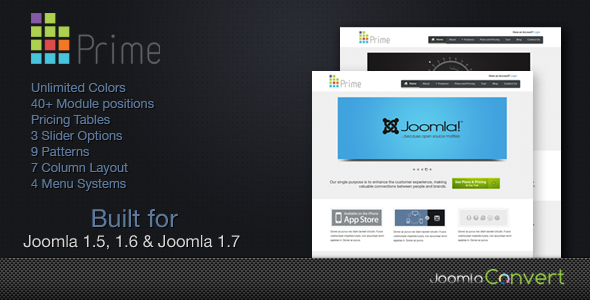 Prime -  Elegant Joomla 1.5 &amp; Joomla 1.6 Template