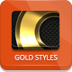 Dark Gold Metallic Photoshop Styles - Part 1 - GraphicRiver Item for Sale