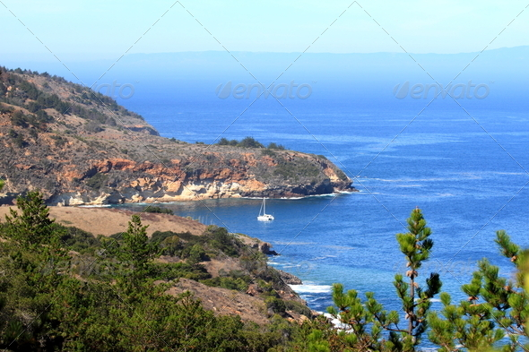 Bay Sailboat - Stock Photo - Images