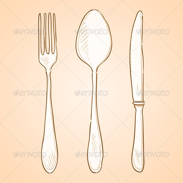 GraphicRiver Rough Cutlery Illustration 4987397