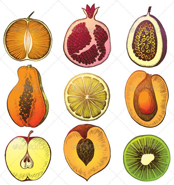 GraphicRiver Fruit Halfs 4987535
