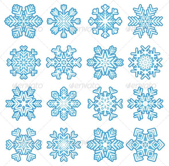 GraphicRiver Snowflakes 4987543